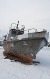Stranded ship on Baikal Royalty Free Stock Photography