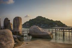Strandeiland Koh Nang Yuan, Thailand Stock Foto
