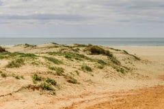 Stranden av dyn i Spanien badade vid Atlanticet Ocean Arkivfoto