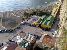 Stranden av Metadi Sorrento i Italien Arkivfoto