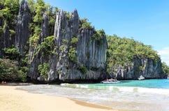 Stranden av Puerto Princesa, Filippinerna Arkivfoto