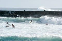 Stranden av Roches Noires på La Reunion Island, Frankrike Royaltyfria Foton