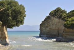 Stranden av Sidari Fotografering för Bildbyråer