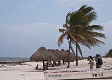 Stranden av Tulum, Mexico Arkivfoto