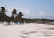Stranden av Tulum, Mexico Royaltyfri Fotografi
