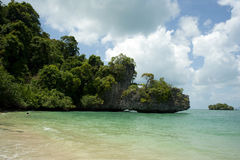 Stranden beskådar av thai strand Fotografering för Bildbyråer