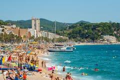 stranden catalonia de lloret fördärvar spain spain Royaltyfria Foton