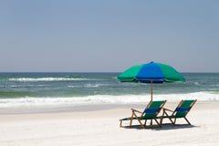 stranden chairs fortwalton arkivbild