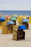 stranden chairs germany royaltyfria foton