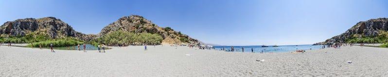 stranden crete gömma i handflatan Royaltyfria Bilder