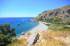 stranden crete gömma i handflatan Arkivfoton