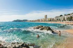 stranden de lloret fördärvar Royaltyfria Bilder