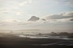 stranden dröm- iceland like Royaltyfri Bild