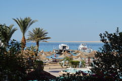 Stranden Egypten, Hurgada, May 9th, 2015 Royaltyfria Foton
