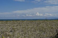 Stranden en de kust van de Zwarte Zee, Samsun-stad, Turkije Stock Afbeeldingen
