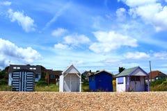Stranden förlägga i barack Kent United Kingdom royaltyfria foton