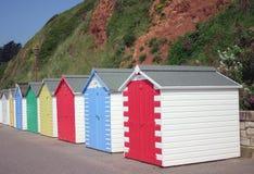 stranden förlägga i barack rad Arkivfoton