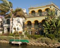 stranden houses venice Royaltyfria Bilder