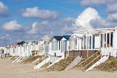 stranden houses zandvoort Royaltyfri Fotografi
