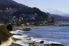 Stranden i byn av Dagomys Fotografering för Bildbyråer