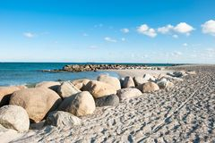 Stranden i Skagen Arkivfoto