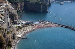Stranden i Sorento Royaltyfri Fotografi