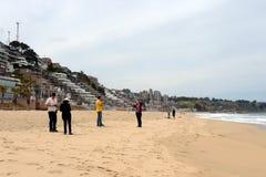 Stranden i viñaen Del Mar chile Arkivbild