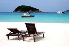 stranden kopplar av Royaltyfri Fotografi
