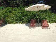 stranden kopplar av Royaltyfria Bilder