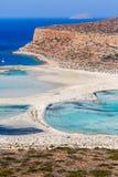 Stranden in lagune van Balos kreta Griekenland stock foto