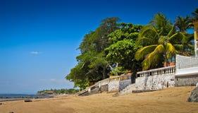 Stranden langs de kust in El Salvador stock afbeelding