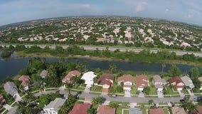 Stranden luchtmening de Zuid- van Florida stock videobeelden