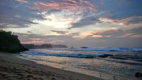 Stranden lugnar ner Arkivfoto