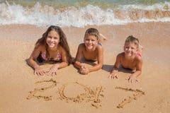 stranden lurar tre arkivfoton