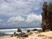 Stranden ngeden i Indonesien Royaltyfria Bilder