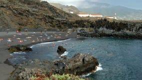 Stranden op het eiland van La Palma stock video