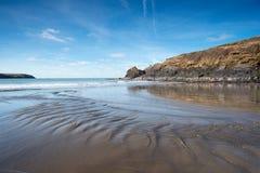 Stranden på Abereiddy Royaltyfria Bilder