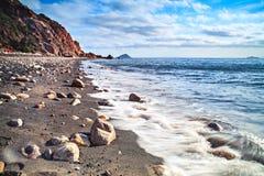 Stranden på den Elba ön royaltyfri foto