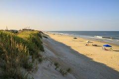 Stranden på det yttre packar ihop arkivfoton