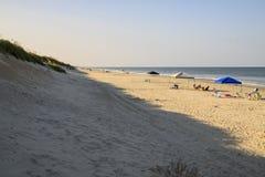 Stranden på det yttre packar ihop arkivfoto