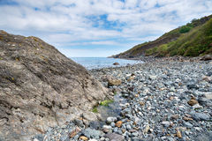 Stranden på Porthallow i Cornwall Royaltyfri Bild