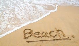Stranden på stranden Arkivfoto