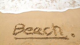 Stranden på stranden Royaltyfria Bilder
