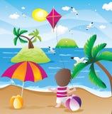 stranden semestrar sommar Arkivbild