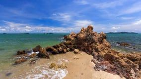 Stranden vaggar in Fotografering för Bildbyråer