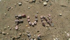 Stranden vaggar stavningsgyckel Royaltyfri Fotografi
