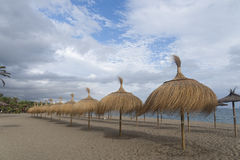 Stranden van Costa del Sol in Zuid-Andalusia, Marbella Stock Afbeelding