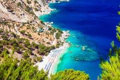 stranden van Griekenland - Apella in Karpathos royalty-vrije stock afbeeldingen