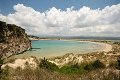 Stranden van Griekenland - Beroemd Strand Voidiokoilia royalty-vrije stock foto