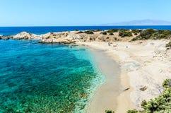 Stranden van Naxos, Griekenland stock foto's
